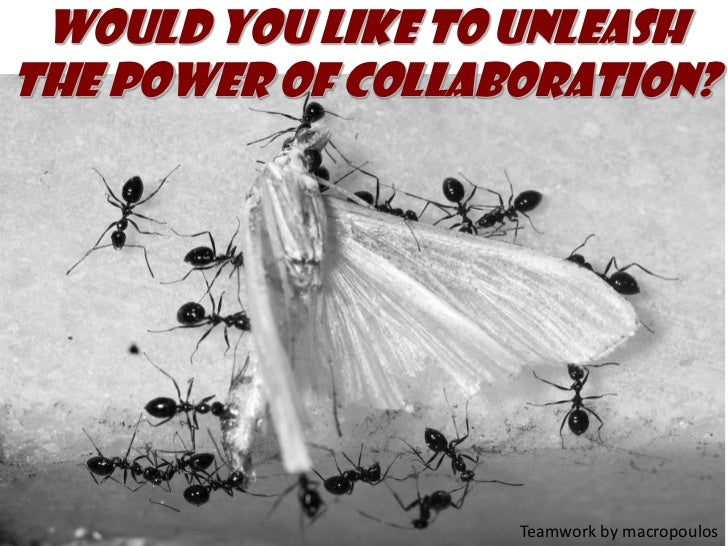 Would you like to unleash the power of collaboration?<br />Teamwork by macropoulos<br />