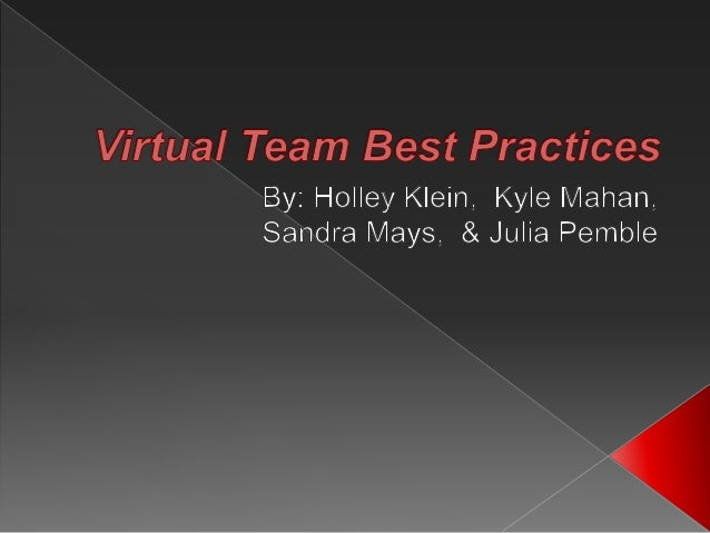 Virtual Team Best Practices