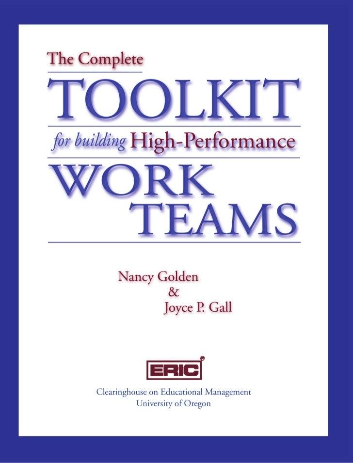 Team development and leadership, nancy golden
