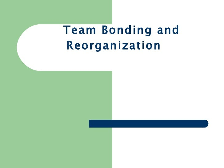 Team Bonding and Reorganization