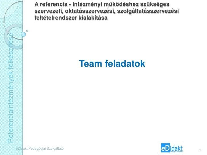 Team feladatok 11