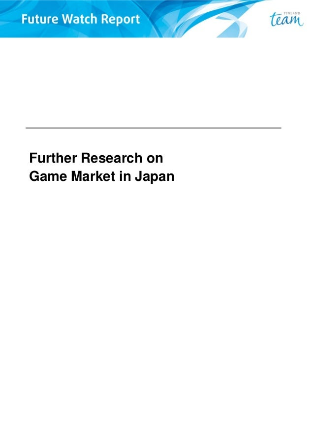 Further Research on Game Market in Japan