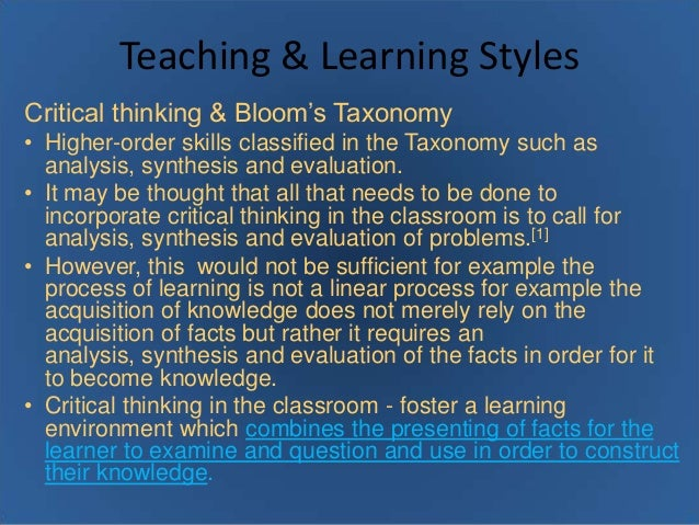 THE INFLUENCE OF STUDENT LEARNING STYLE ON