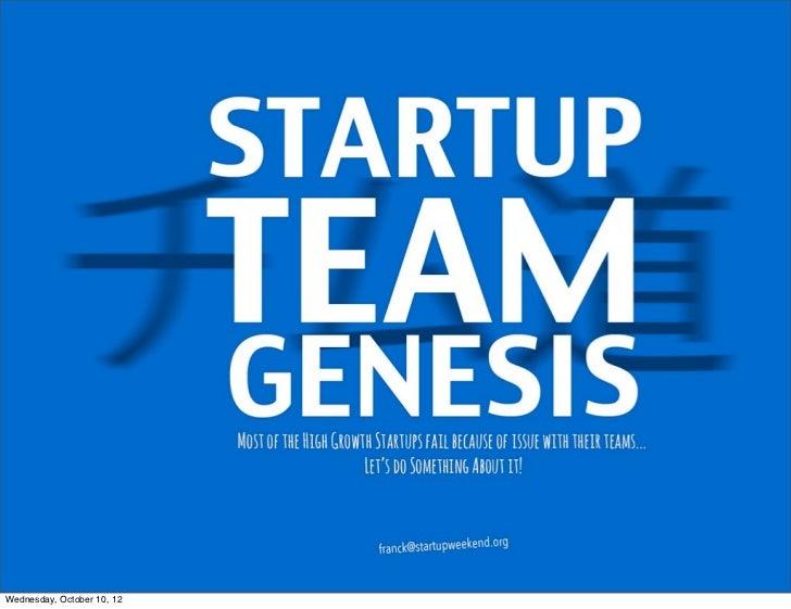 Startup Team genesis