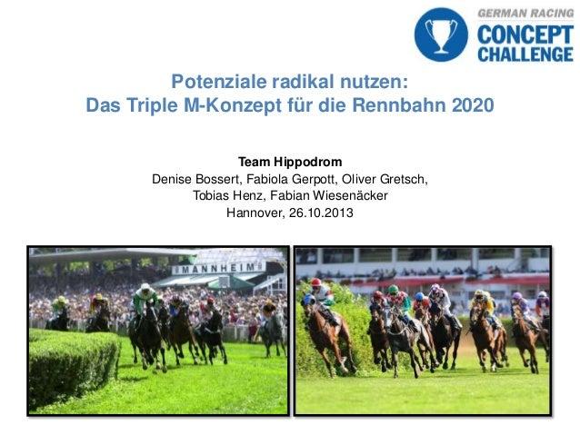 Potenziale radikal nutzen: Das Triple M-Konzept für die Rennbahn 2020 Team Hippodrom Denise Bossert, Fabiola Gerpott, Oliv...
