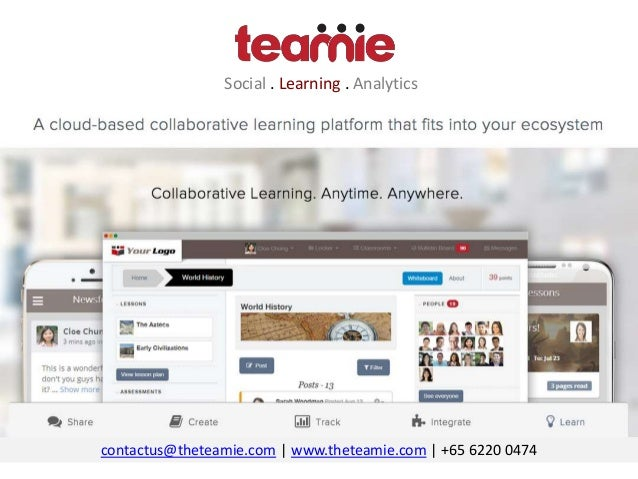 Social . Learning . Analytics contactus@theteamie.com | www.theteamie.com | +65 6220 0474