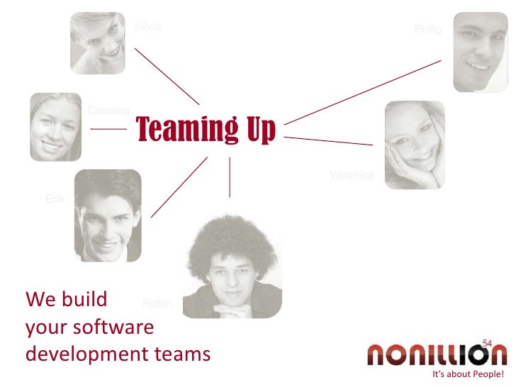 Silvia<br />Philip<br />Carolina<br />Teaming Up<br />Veronica<br />Erik<br />We build <br />your software development tea...