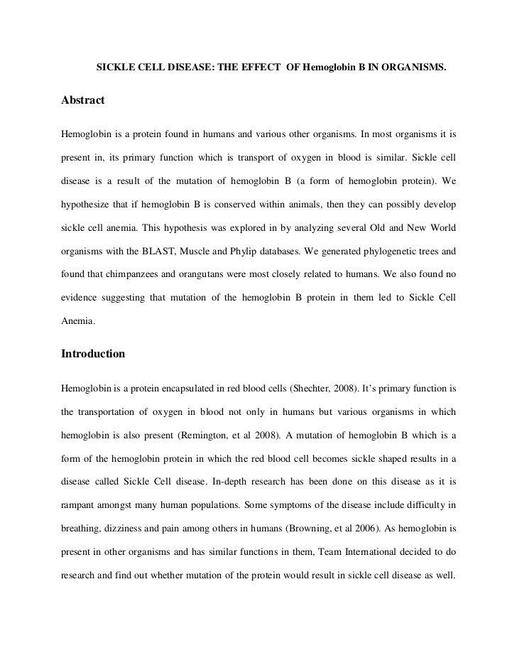 Hemoglobin HBB2 Paper
