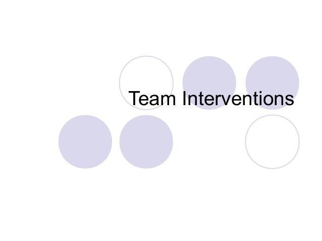Intervention Team Team Interventions Distinction