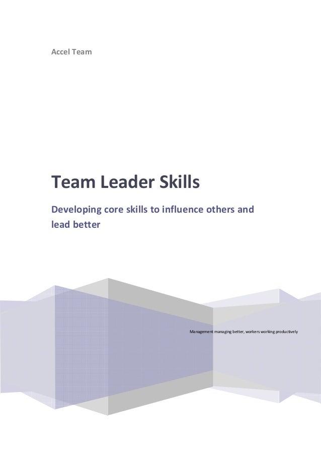 Team leaderskills