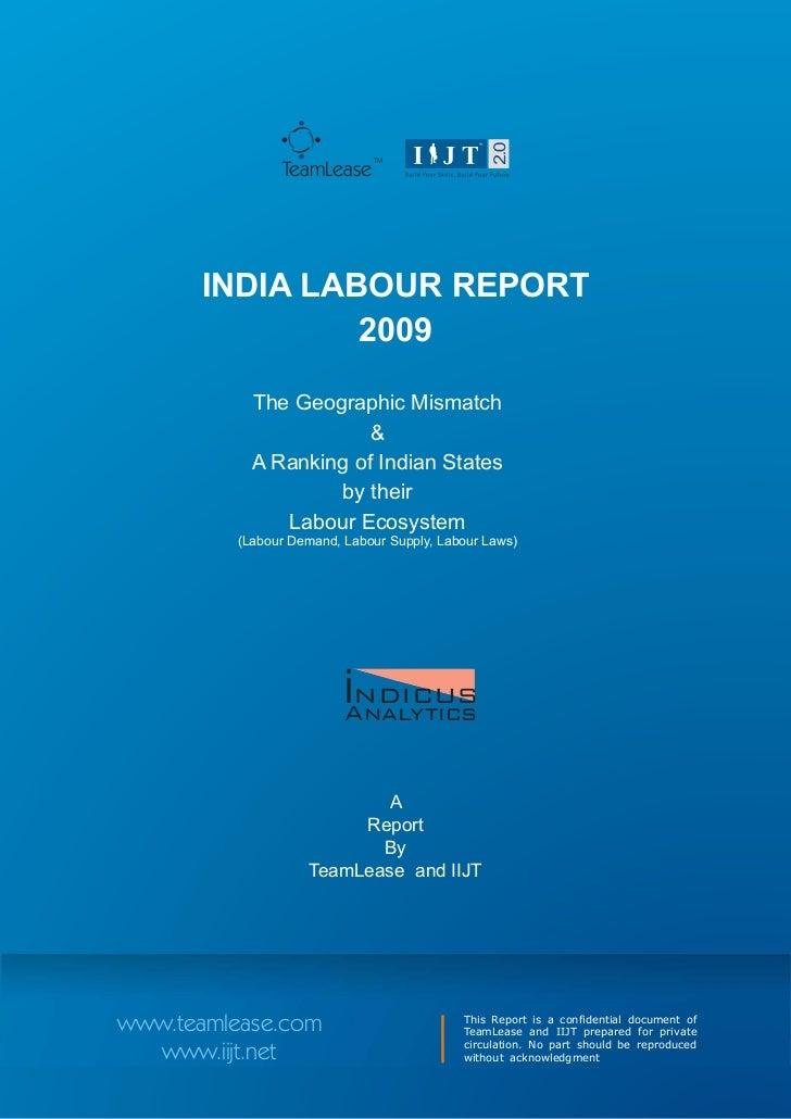 Team Lease Indicus India Labour Report 2009