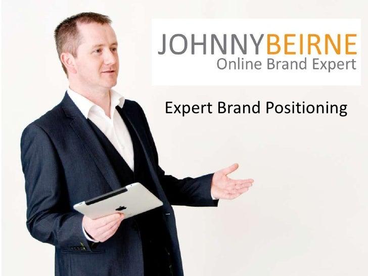 Expert Brand Positioning using Social Media