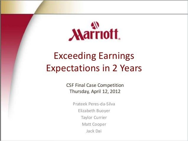 Exceeding Earnings Expectations in 2 Years CSF Final Case Competition Thursday, April 12, 2012 Prateek Peres-da-Silva Eliz...