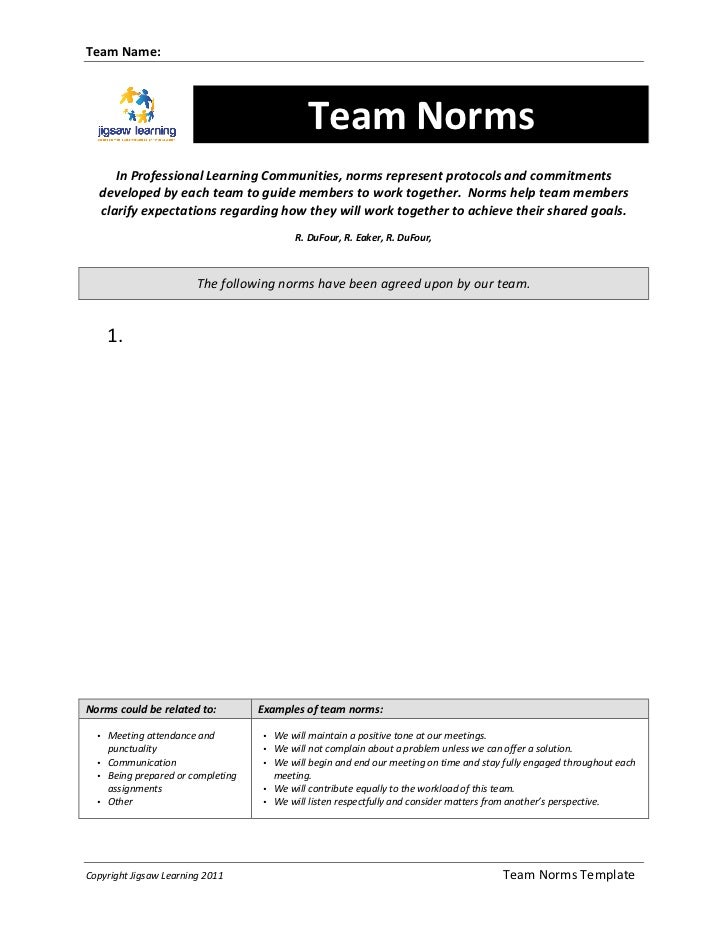Team Name:                                                                      Team Norms           In Prof...