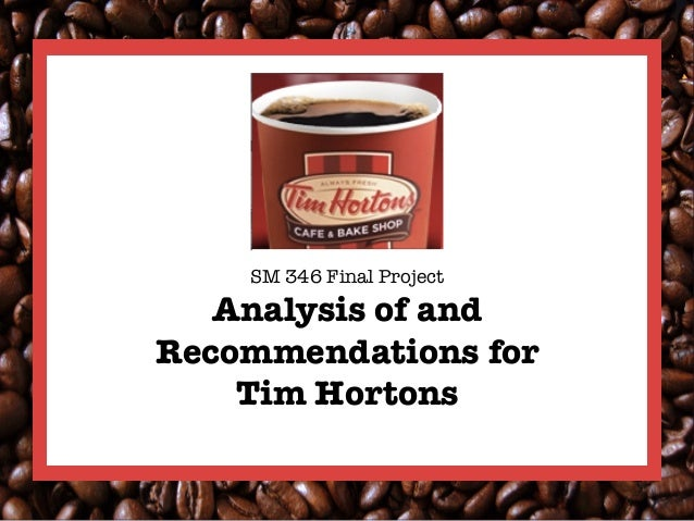 """SM 346 Final Project!   Analysis of andRecommendations for     Tim Hortons"""""""