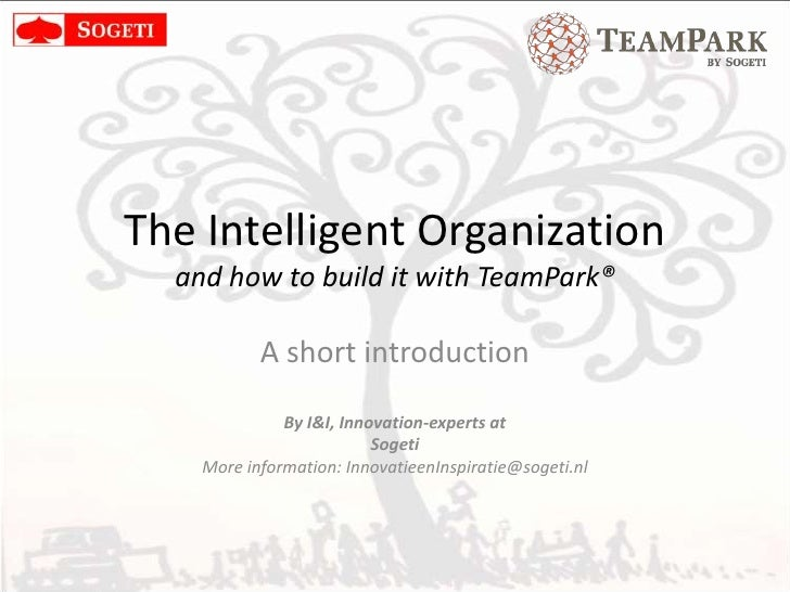 Build the socially integrated organization with the TeamPark-method