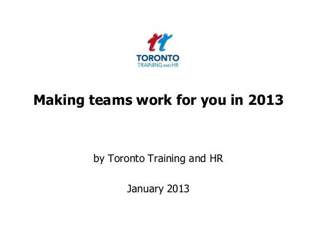 Teams January 2013