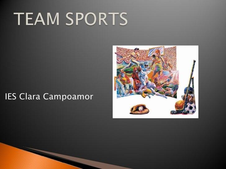 Team Sports 1º ESO Secciones