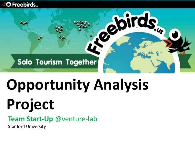 Opportunity AnalysisProjectTeam Start-Up @venture-labStanford University