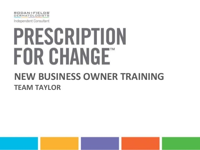 NEW BUSINESS OWNER TRAININGTEAM TAYLOR