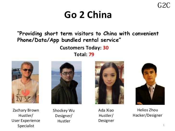 """G2C                       Go 2 China  """"Providing short term visitors to China with convenient  Phone/Data/App bundled rent..."""