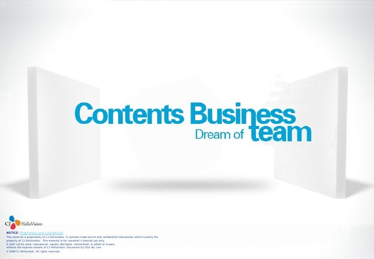 Contents Business Team