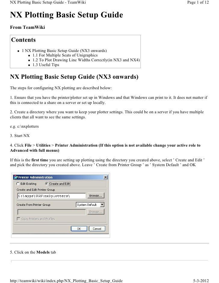 NX Plotting Basic Setup Guide - TeamWiki                                                                    Page 1 of 12NX...