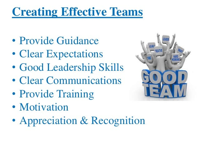 creating and managing effective teams essay