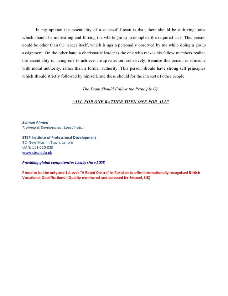 Teamwork - Research Paper - ReviewEssayscom