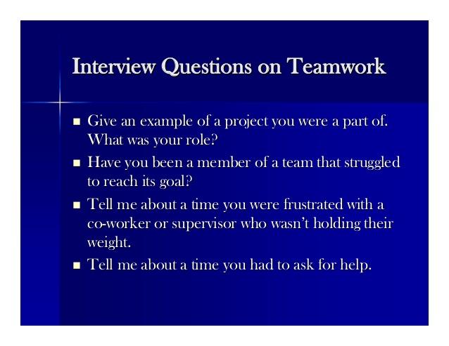 Teamwork Answers