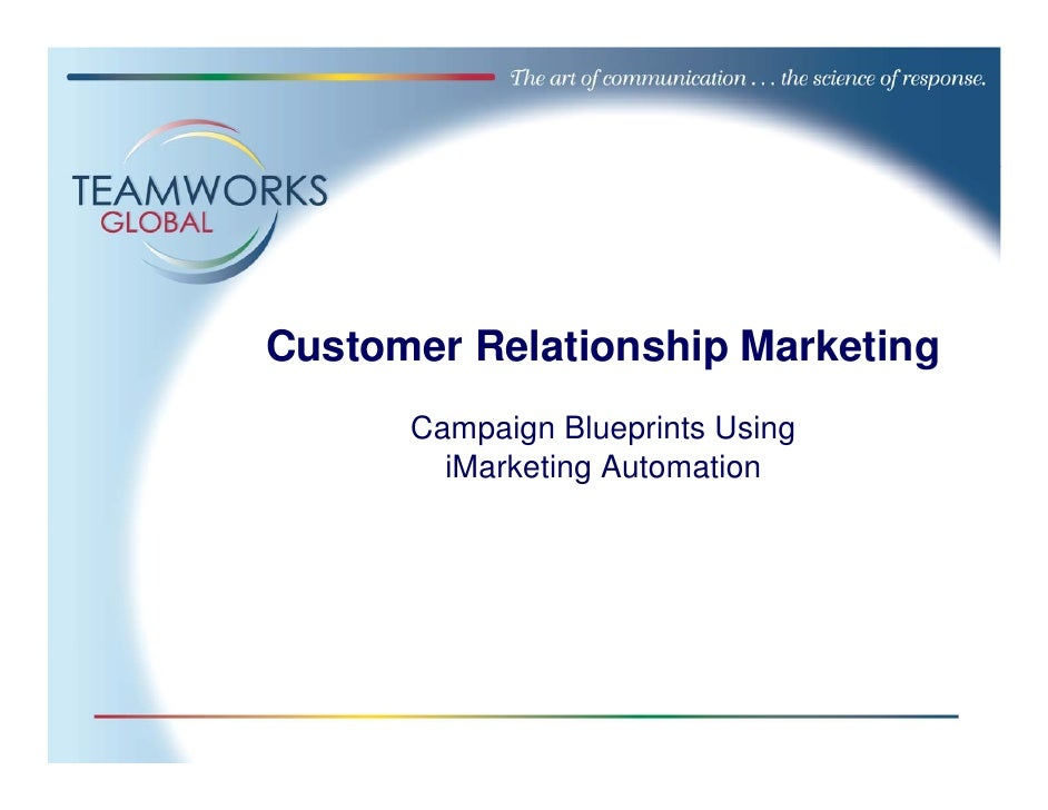 Customer Relationship Marketing       Campaign Blueprints Using         iMarketing Automation