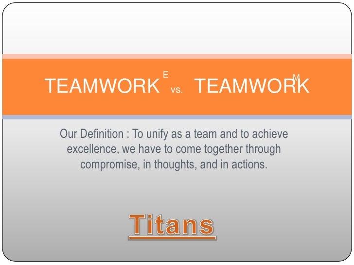 Teamwork vs. Mediocrity
