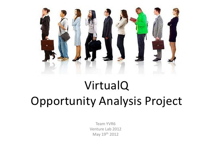 VirtualQOpportunity Analysis Project             Team YVR6          Venture Lab 2012           May 19th 2012