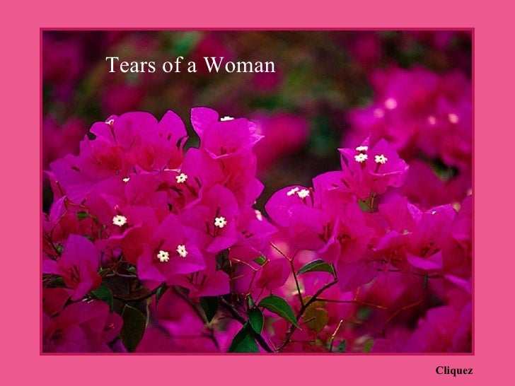 TEARS OF A WOMAN forwarded to me by Betsy