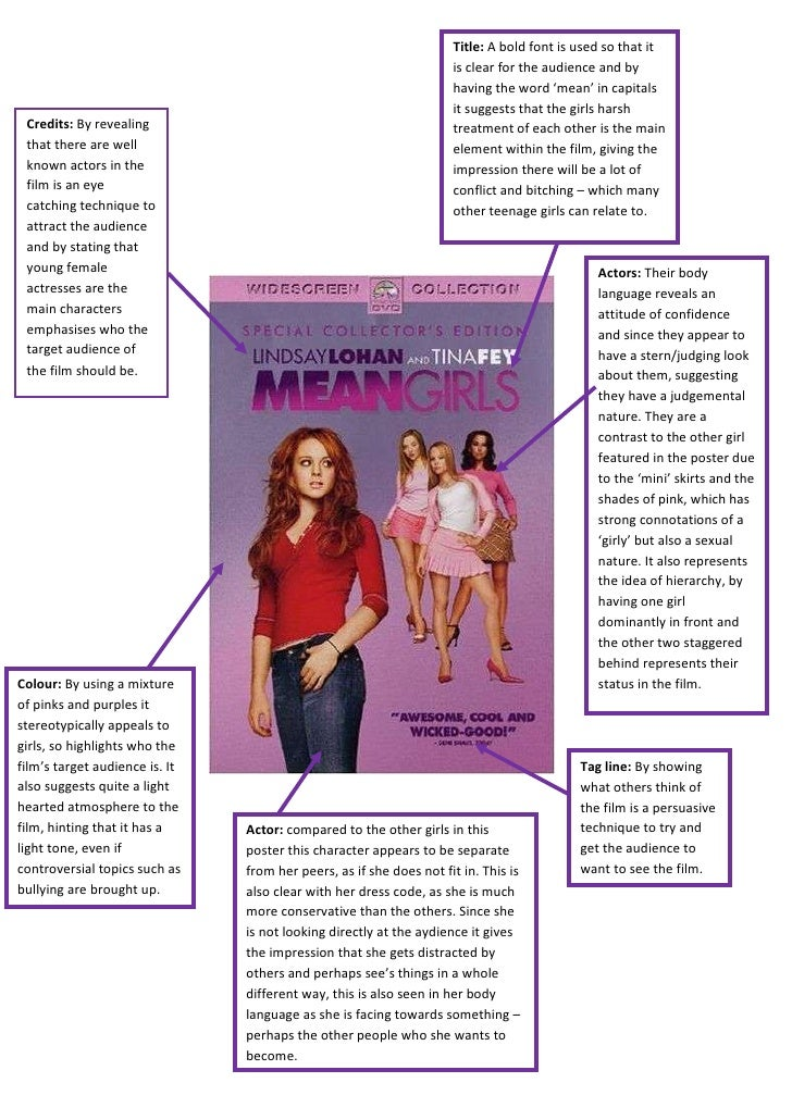 mean girls analysis Mean girls stereotypes stereotypes are groups that are categorised due to appearance , hobbies and behaviour in movies stereotyping is a quick easy way to learn.