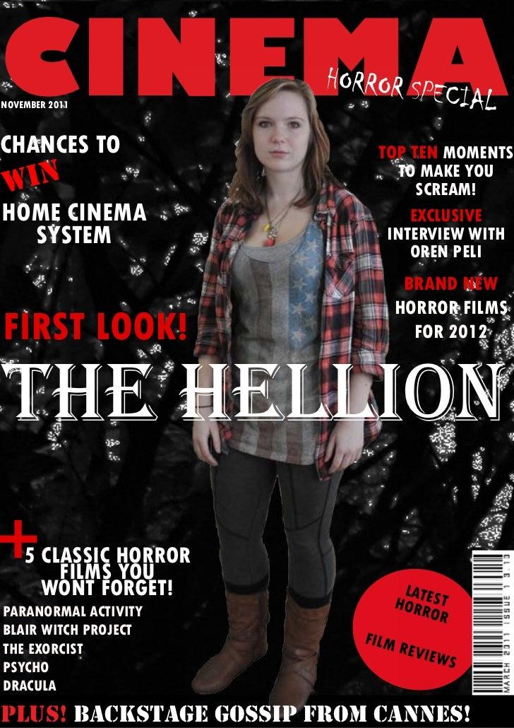 CINEMANOVEMBER 2011                        HORROR SP                                      ECIALCHANCES TO                 ...