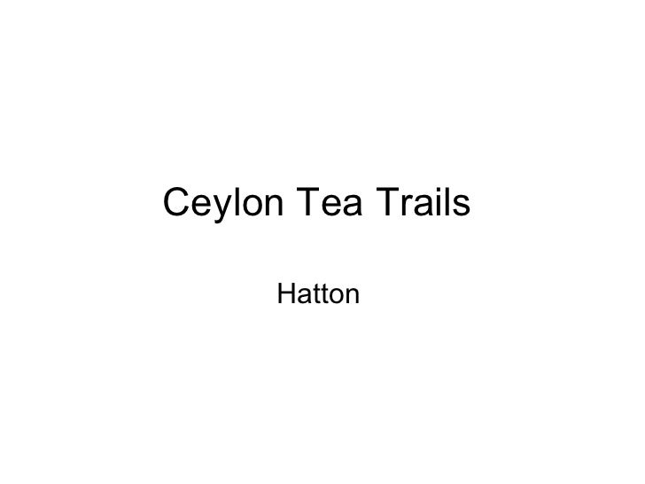 Ceylon Tea Trails  Hatton
