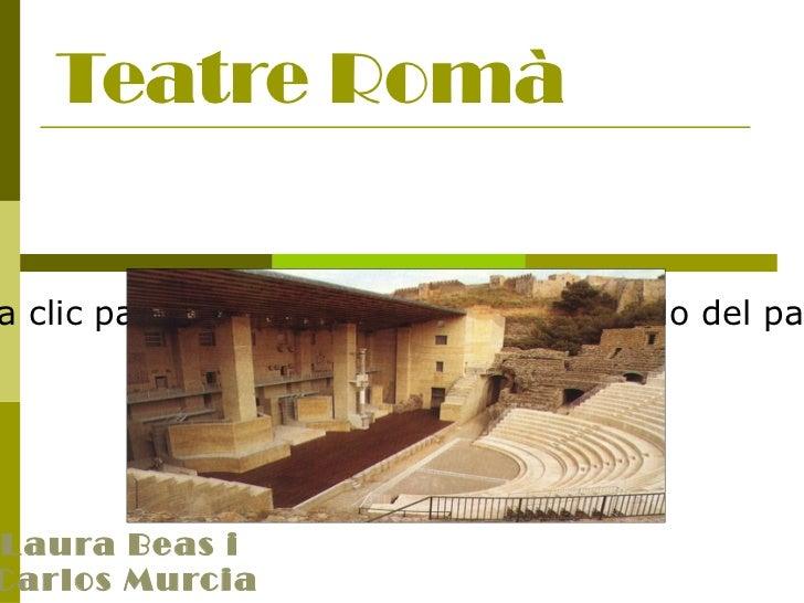 Teatre Romà Laura Beas i  Carlos Murcia