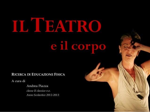 Teatro, arte del corpo