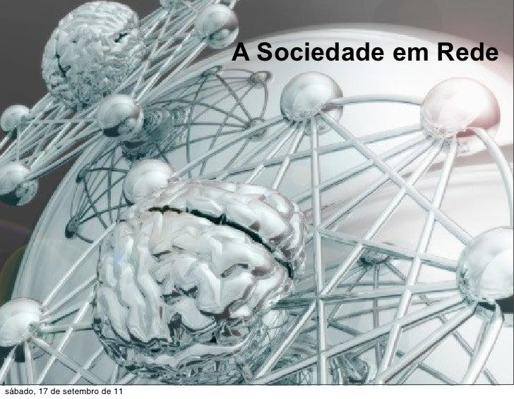 A Sociedade em Rede e o Teatro - Recife