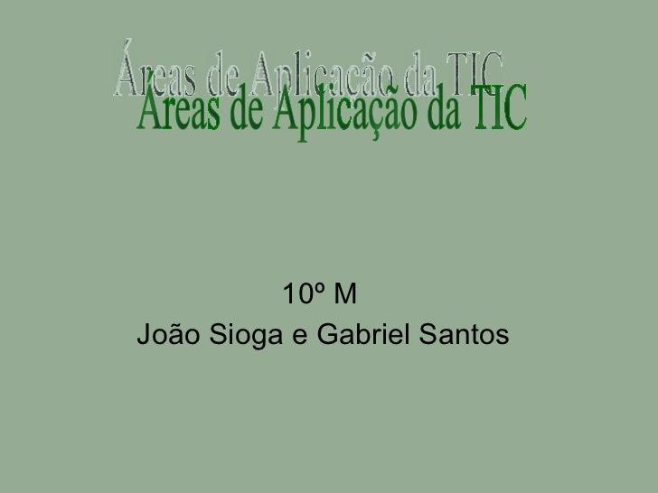 10º M  João Sioga e Gabriel Santos Áreas de Aplicação da TIC