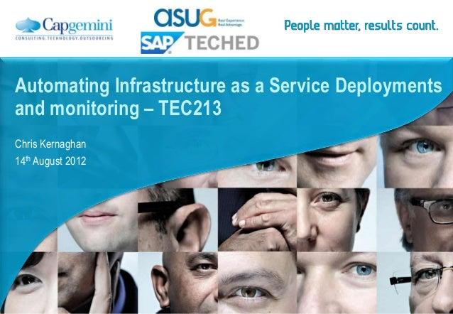 SAP Teched 2012 Session Tec3438 Automate IaaS SAP deployments