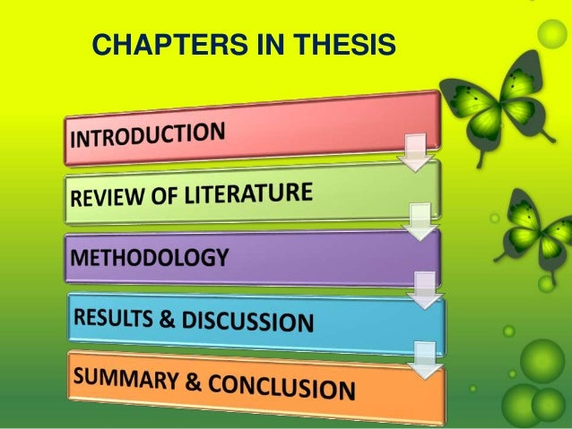 thesis chapter 5 results and discussion Sections of the thesis in some disciplines, the results and discussion section are combined within the one chapter all theses have a biblio- graphy or reference list following the conclusion they may also have an appendix 1 research models and methods 2 developing a research proposal 3 thesis structure guidelines.