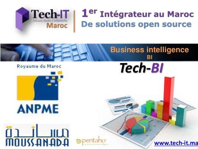 Business intelligence BI Tech-BI www.tech-it.ma