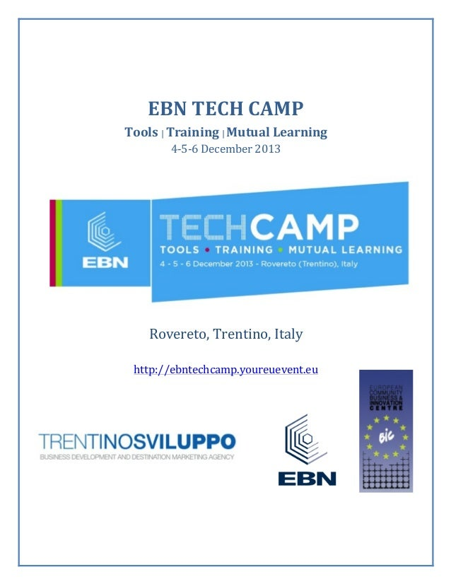 EBN	   TECH	   CAMP	    Tools	   |	   Training	   |	   Mutual	   Learning	    4-­‐5-­‐6	   December	   2013	 ...