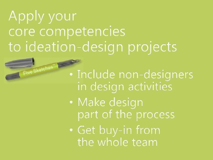 Tech-Comm core competencies and the Five Sketches™ ideation-design method