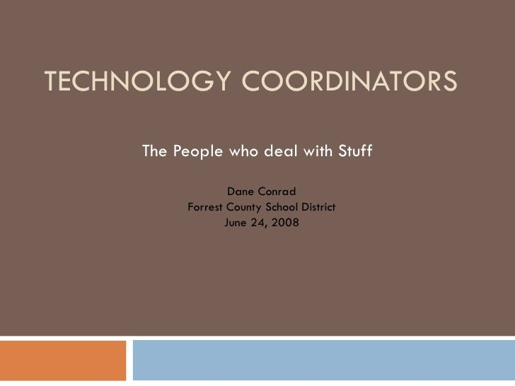 Tech Coord Position