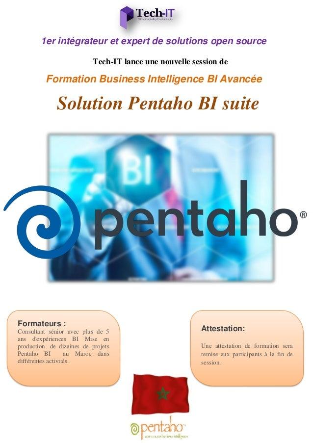 1er intégrateur et expert de solutions open source Tech-IT lance une nouvelle session de Formation Business Intelligence B...