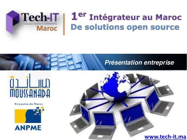 Présentation entreprise www.tech-it.ma