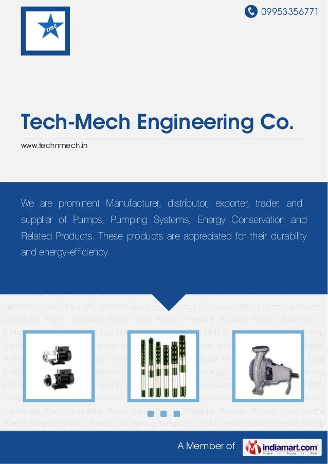 Pressure Booster Pumps by Tech mech engineering co